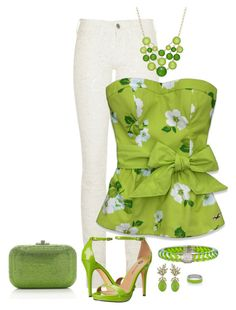 """""""Ryte Way 2 B Green With Envy"""" by sabrina-mcknight ❤ liked on Polyvore featuring Étoile Isabel Marant, Hollister Co., Michael Antonio, Style & Co., Ciner, Angélique de Paris, Judith Leiber and Kenny & Co."""
