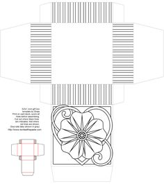 Printable rose gift box to color from Don't Eat the Paste