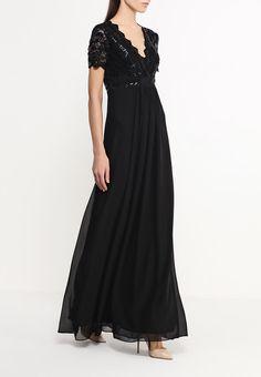 Шикарное черное платье с кружевным лифом. Короткие рукава, V-образный вырез. Платье на подкладке. Подробности http://fas.st/2g01k