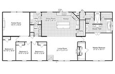 The Magnum Home 76 floor plan - one of Palm Harbor Homes beautiful, high quality manufactured home and modular home floor plans Pole Barn House Plans, Pole Barn Homes, New House Plans, Dream House Plans, House Floor Plans, Pole Barns, Ranch Home Floor Plans, Dream Houses, Metal Building Homes