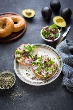 A recipe to make an easy Furikake (Japanese seasoning mix) and sprinkled on an a toasted bagel with smashed avocado #avotoast