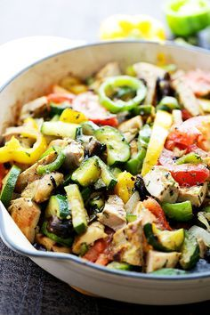 Chicken Ratatouille - A quick and delicious 30-minute, one-skillet meal.