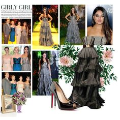 "2013 ""Oz the Great and Powerful"" Premiere in London~ Mila Kunis by snugget9530 on Polyvore featuring Christian Louboutin, Alexander McQueen, Elsa L, ASOS and MillÃ"
