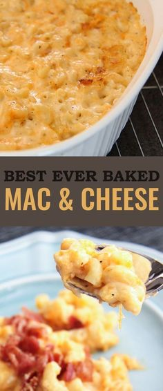 Best Ever Baked Mac and Cheese Recipe The Best Macaroni and Cheese - ever. Cheesy, gooey, full of flavour and with that crusted topping of cheese that we love from a casserole. Homade Mac And Cheese, Best Baked Mac And Cheese Recipe, Gourmet Mac And Cheese, Best Macaroni And Cheese, Macaroni Cheese Recipes, Bake Mac And Cheese, Pasta Recipes, Cooking Recipes, Mac And Cheese Casserole