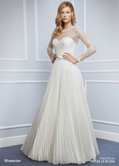 Blumarine 2016 Wedding Dress Love the crinkled skirt of this classic elegant gown