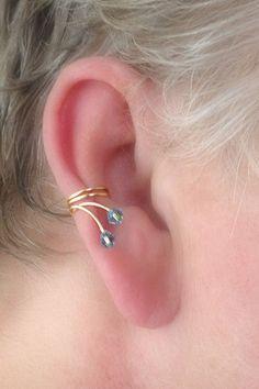 40 Adventurous Pictures of Ear Piercing Ear Jewelry, Body Jewelry, Jewelery, Fine Jewelry, Women Jewelry, Jewelry Making, Cuff Earrings, Beaded Earrings, Beaded Jewelry