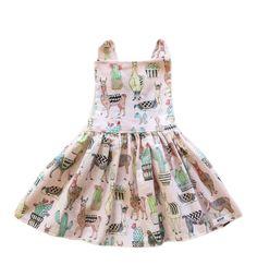 898ec80cd Llama Print, Pinafore Dress, Llamas, Cacti, Pink Dress, Pink Flowers,