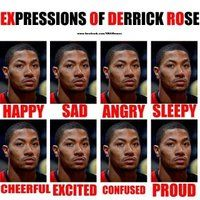 The many faces of Derrick Rose