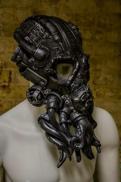 Steampunk Cthulhu mask by Tom Howell