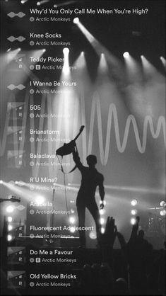 Arctic Monkeys Knee Socks, Arctic Monkeys Lyrics, Arctic Monkeys Wallpaper, Monkey Wallpaper, Monkey 3, Music Mood, Alex Turner, Black And White Aesthetic, Road Trip Playlist
