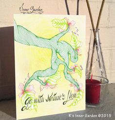 Check the inside message at http://etsy.me/1KcBx2j  #drawing #motivational #cards #nature #Etsy #eco #awareness