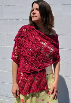 Cotton Twirl Spider Lattice Stole By Cathy Campbell - Free Crochet Pattern - (straw)