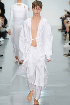 Menswear trend: Crisp whites. Seen here at Craig Green.