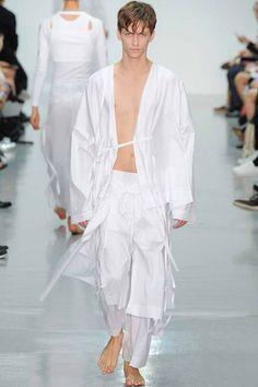 Menswear trend: Crisp whites. Seen here at Craig Green.