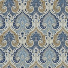 Anjali Blue Fabric - Ethan Allen US -- accent pillows