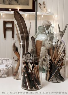 Cute way to organize craft stuff