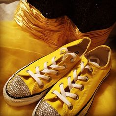 Dress from promgirl.com converse from eBay I add clear crystals to toes Follow more on Instagram@firewifemay Bling Converse, Converse Style, Clear Crystal, Formal Wear, To My Daughter, Crystals, Sneakers, How To Wear, Dress