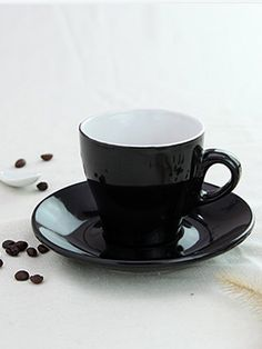 Two Pcs High Quality Modern Coffee Cup Saucer & Dining - at Jollychic Drinkware, Cup And Saucer, Dinnerware, Coffee Cups, Sweet Home, Make It Yourself, Mugs, Dining, Cooking