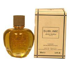 Sublime By Jean Patou for Women, 3.4 Oz Eau De Toilette Spray Tester No Cap by Jean Patou. $55.00. TESTERS. 3.4. SUBLIME Women TESTER Eau de Toilette 3.4