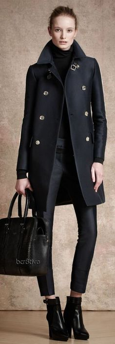 All black street style Belstaff military jacket.