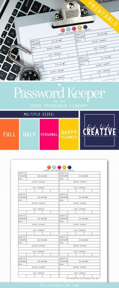 Password Keeper - Fit Life Creative