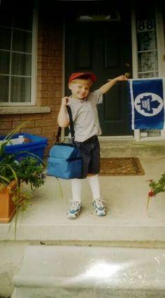 Mitch Marner as a young fan of the Toronto Maple Leafs,,,,Dreams do come true Kings Hockey, Hockey Girls, Hockey Mom, Ice Hockey, Funny Hockey, Rangers Hockey, Flyers Hockey, Boston Bruins Hockey, Hockey Players