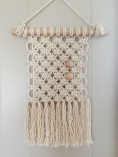 Macrame Wall Hanging #9 by AFibre on Etsy https://www.etsy.com/listing/273411600/macrame-wall-hanging-9