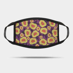 Masks by Sandra Hutter Designs | TeePublic Face Masks For Kids, Purple Backgrounds, Retro Fashion, Scandinavian, Sunglasses Case, Blue Yellow, Orange, Abstract, Retro Style