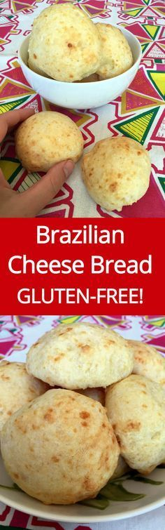 Brazilian Cheese Bread Recipe (Pao de Queijo) - Gluten-Free, low carb if you use almond and coconut flour