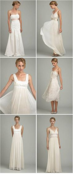 one of the longer, flowy ones for bridesmaids? different color, definitely