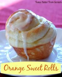Sweet Orange Rolls are warm and delicious for breakfast!