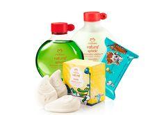 produtConjunto Naturé Cabelos Lisos - Sabonete + Lenço + Shampoo + Condicionadoro