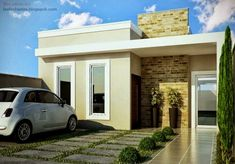 house design and architecture consultant. Plans Architecture, Architecture Design, Style At Home, House Front, My House, Modern House Facades, Small House Design, Facade House, Small House Plans