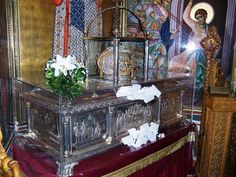 The relics of St. Demetrios, the Myrrh-Streaming.