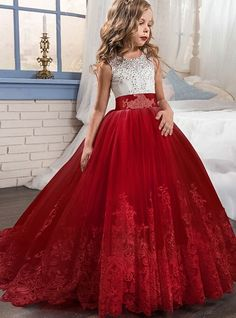 Girl Dress Bridesmaid Pageant Gown Dress Girl Kids Dresses For Girls Teenager 8 10 12 14 Years Wedding Party Dress Lace Clothes , ideas for 13 year olds Girls Pageant Dresses, Pageant Gowns, Junior Bridesmaid Dresses, Girls Party Dress, Little Girl Dresses, Dress Girl, Kid Dresses, Party Dresses, Dress Party