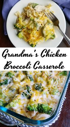 This chicken and broccoli casserole is a great way to get dinner on the table quickly. It is a perfect way to use leftover chicken or turkey as well! over chicken recipes Grandma's Chicken Broccoli Casserole Leftovers Recipes, Easy Dinner Recipes, Cooked Chicken Recipes Leftovers, Recipes With Leftover Chicken, Can Chicken Recipes, Recipes With Egg Noodles, Dinner Casserole Recipes, Turkey Leftovers, Rotisserie Chicken Leftovers