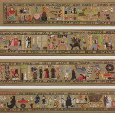 star wars saga cross stitched on 30 ft 914 cm long canvas  880