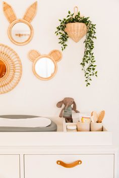 Oliver's Neutral Nursery Reveal - New Darlings Baby Changing Table Organization Nursery Drawer Organization, Changing Table Organization, Organization Ideas, Girl Nursery, Nursery Decor, Nursery Ideas, Boho Nursery, Elephant Nursery, Room Ideas