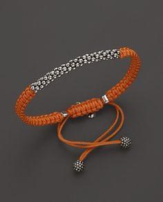 Elegantes Makramee Armband in Orange und mit silbernen Kugeln - jewelry diy bracelets Diy Bracelets Metal, Bracelet Crafts, Bracelets For Men, Handmade Bracelets, Jewelry Crafts, Handmade Jewelry, Macrame Jewelry, Macrame Bracelets, Bracelet Designs