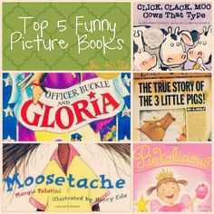 Top 5 Funny Picture Books to brighten your day and your bookshelf! (That the kids will love too!)