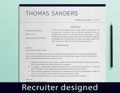 Executive Resume Template, Modern Resume Template, Cv Template, Resume Templates, Cover Letter Design, Cover Letter For Resume, Cover Letter Template, Letter Templates, Marketing Resume
