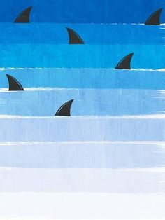 Giclee Print: Sharks by Charlotte Winter : 32x24in