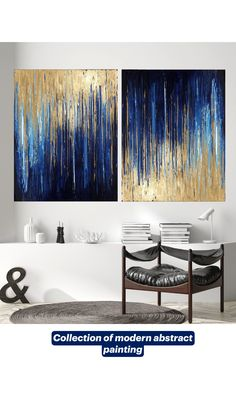 Collection of modern abstract painting