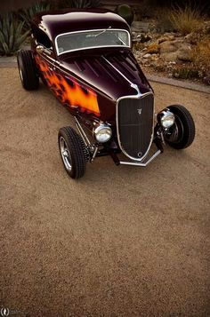 Flame paint hot rod