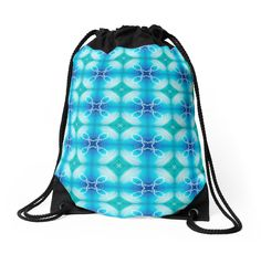 """""""Texture """"east pattern"""" the blue"""" Drawstring Bags by floraaplus 