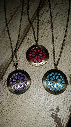 Diffuser Locket Necklaces Round