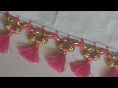 Saree Kuchu New Designs, Chudi Neck Designs, Saree Tassels Designs, Wedding Saree Blouse Designs, Kutch Work Designs, Rangoli Designs Flower, Border Embroidery Designs, Hand Work Blouse Design, Hand Embroidery Videos