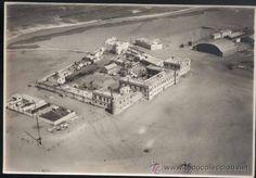 AÑO 1931.-FOTOGRAFÍA DE CAMPAMENTO OFICIALES ESPAÑOLES EN CABO JUBY