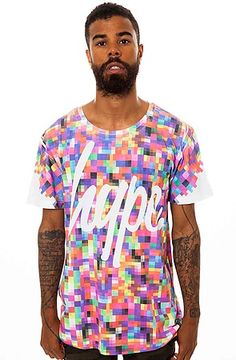 628975091d3c The Pixel Tee in Multi by HYPE Hype Clothing