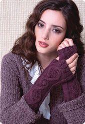 ...Aran fingerless mittens...
